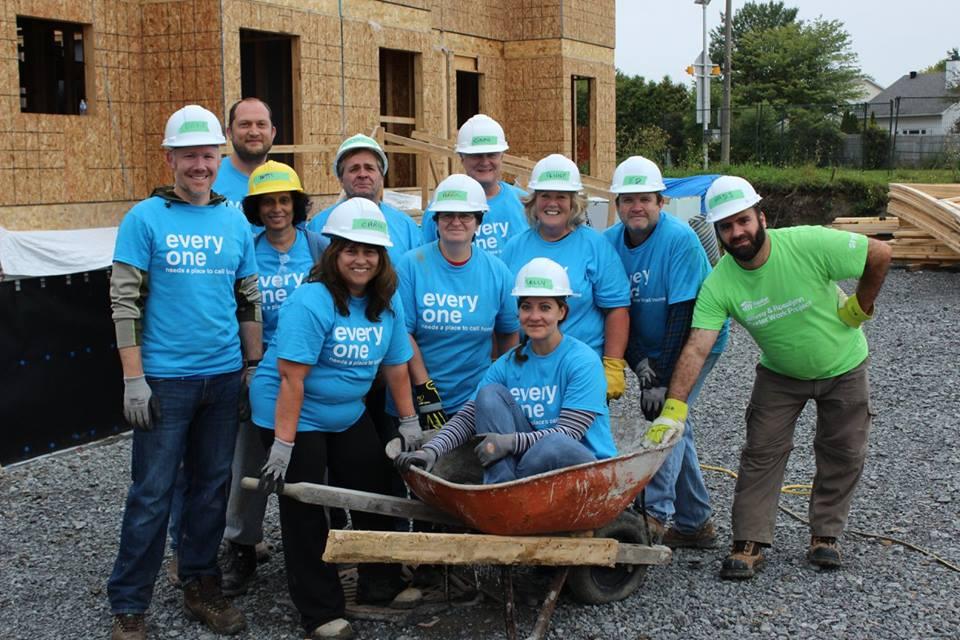 Volunteering at the build - Habitat for Humanity Greater Ottawa